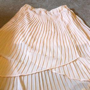 Pink high low skirt